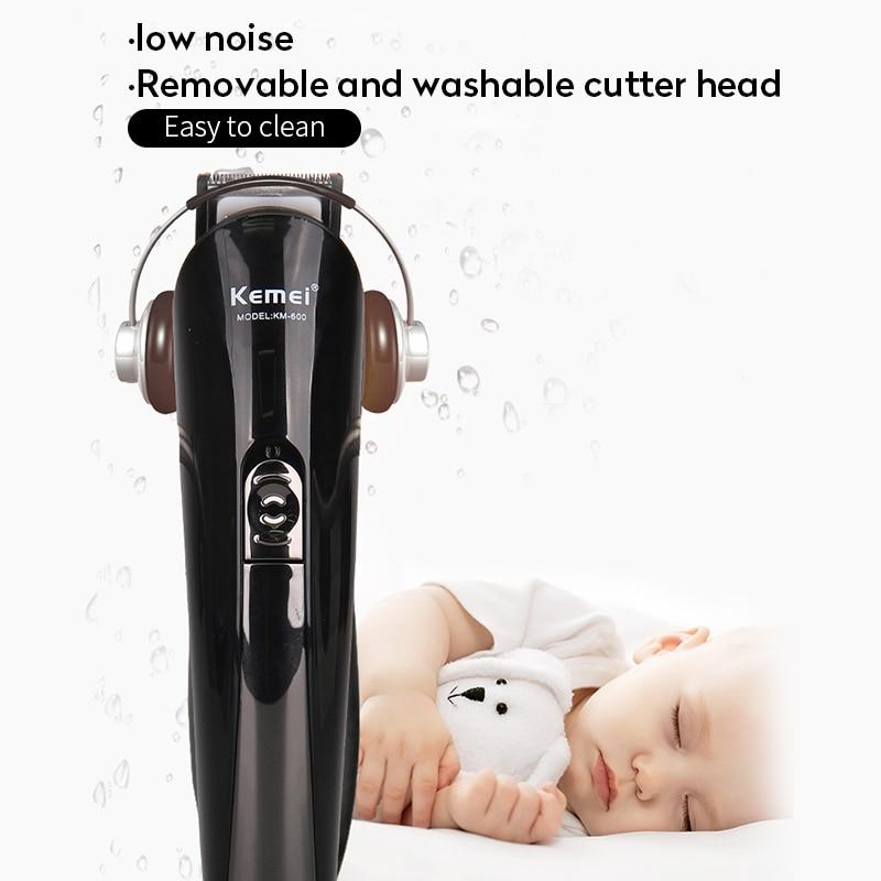 Image 3 - Kemei KM 600 6 em 1 máquina de cortar cabelo elétrica máquina barbear aparador barba corte aparador cabelo orelha nariz e ferramentas limpeza facialAparadores de pelo   -
