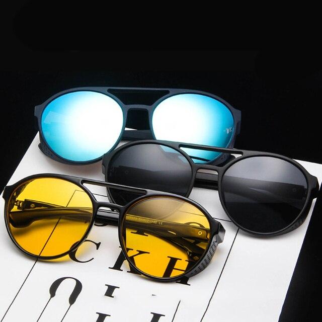 LeonLion קלאסי פאנק משקפי שמש גברים מותג מעצב משקפי שמש גברים בציר משקפיים שמש לגברים פאנק Oculos דה סול Gafas UV400 3