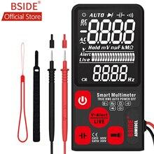 """BSIDE ADMS9CL EBTN dijital multimetre 3.5 """"LCD 3 Line ekran 9999 adet TRMS otomatik aralığı gerilim kapasitans diyot direnç"""