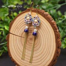 Glseevo натуральный жемчуг клуазоне бусина геометрической формы
