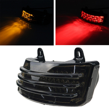 лучшая цена Motorcycle Tri-Bar LED Rear Tail Brake Fender Tip Light Touring Street Glide 2014-2019 Road Glide 2015-2019 Models