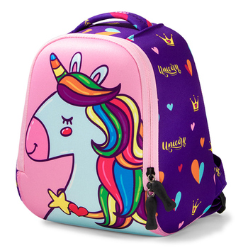 New 3D Unicorn Kids Bag Cartoon School Bags For Girls Boys Dinosaur Pattern School Backpack Children Waterproof Mochila Toddler haoyun children s school backpack vampirina prints pattern kids backpack cartoon design toddler boys girls school book bags