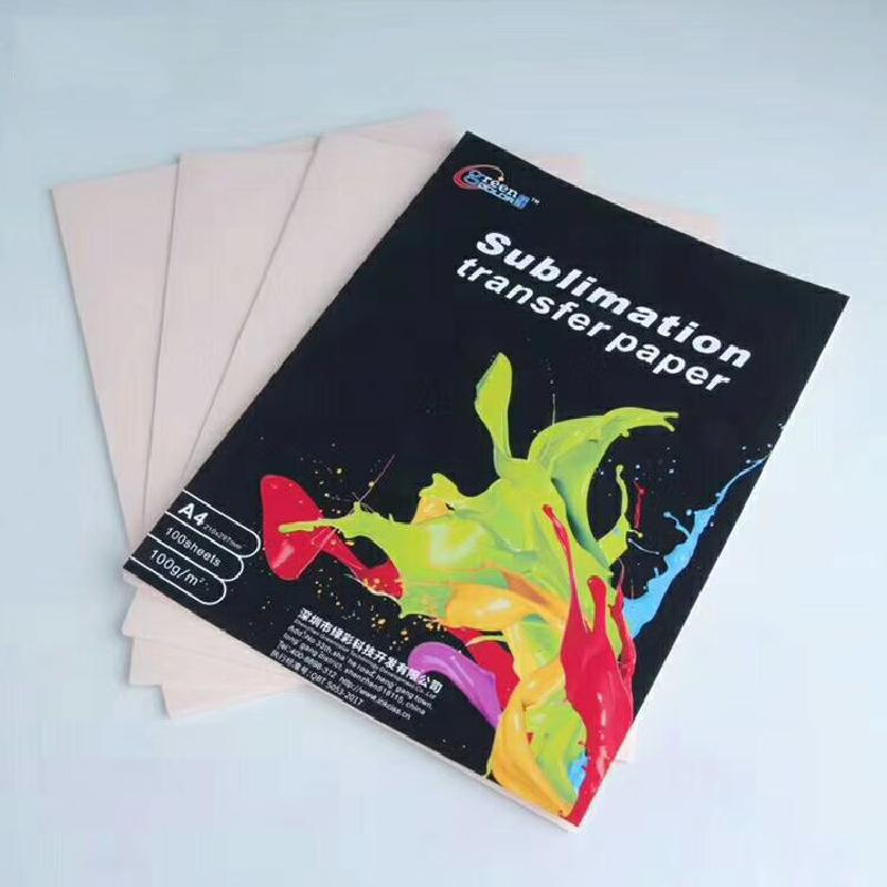 100 Sheets / Bag Light T-shirt Thermal Transfer Paper A4 Sublimation Transfer Paper Cup Kettle Saucer Thermal Transfer Film