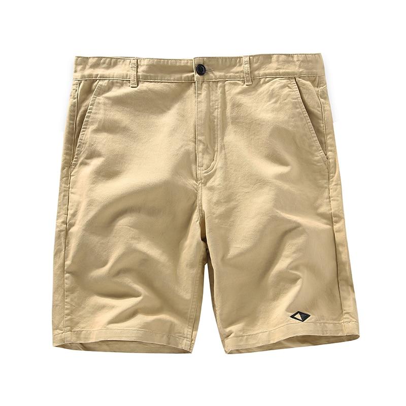 Casual Men Shorts Solid Color Loose Slim Fit Khaki Shorts Pants Work With Pockets Jogger Erkek Giyim Short Sweatpants XX60MS