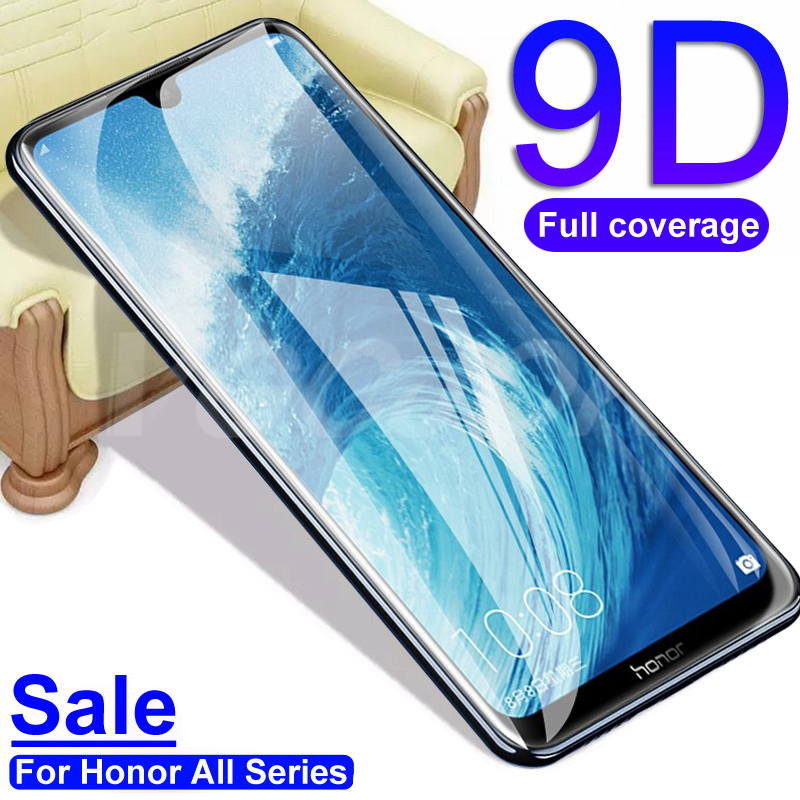 9D Tempered Glass For Huawei honor 7X 7A 7C Pro 7S 8S 8A 8C 8X Screen Protector For Honor 10 Lite 9X Protective Glass Film Case(China)