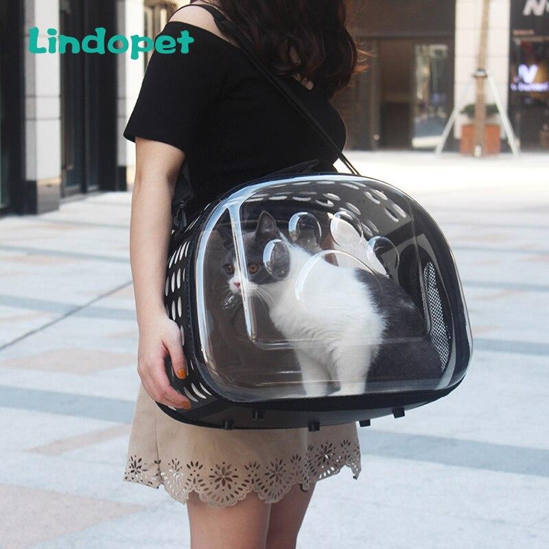 Pet transportadora para cães gato dobrável gaiola dobrável caixa bolsa sacos de transporte plástico suprimentos para animais de estimação saco de transporte pour chien