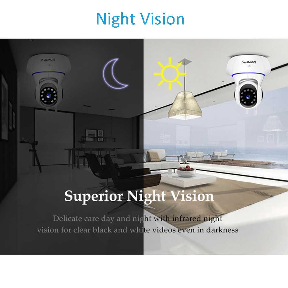 INQMEGA HD 1080P bezprzewodowa kamera sieciowa wi-fi domowy Monitor bezpieczeństwa w domu inteligentny System wideo sieciowe dwukierunkowy dźwięk/noktowizor