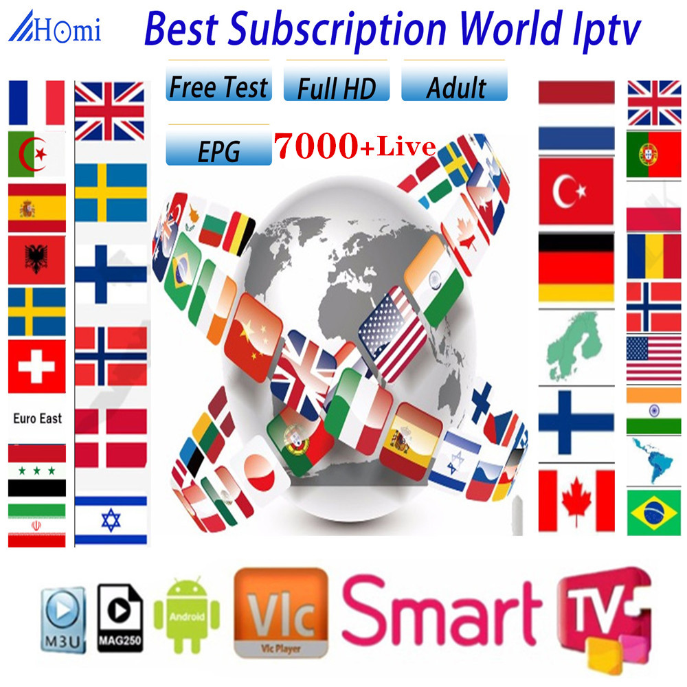 1 Year Europn US UK Brazil Poland Spain French IPTV Subscription 7000+Live France HD IPTV M3u Enigma Vod Sports Adult Free Test