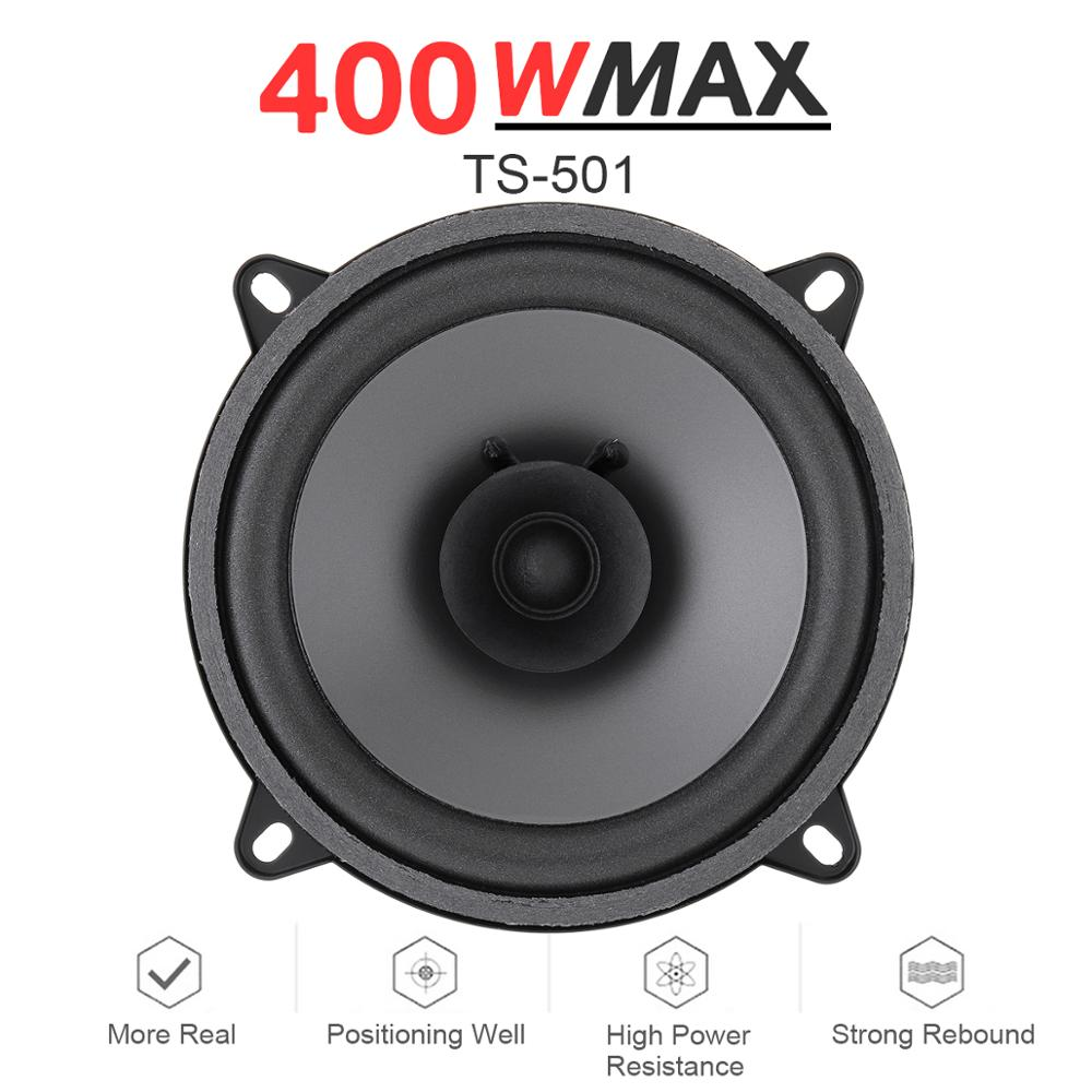 1pcs 5 Inch 400W Car Coaxial Speaker Vehicle Door Auto Audio Music Stereo Full Range Frequency Hifi Speakers Loudspeaker For Car