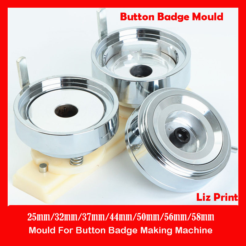 Ready Stock 25mm 32mm 37mm 44mm 50mm 56mm 58mm 75mm Mould For Button Badge Maker Button Badge Making Machine Molds