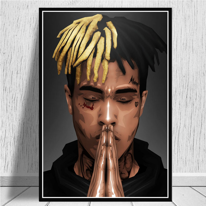 XXXTentacion Music Album Rapper Singer Star Poster Wall Art Canvas Painting Pictures For Living Room Home Decor