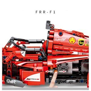 Image 5 - Sembo técnica rc brinquedo do carro de controle remoto blocos de construção modelo kit tijolos f1 fórmula corrida carro crianças brinquedos para crianças meninos presente