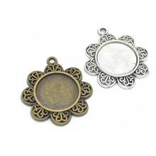 4 pçs encantos cabochão base redonda interior 20mm diy jóias fazendo pingente apto brinco colar pulseira artesanato