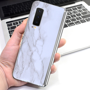 Marble Matte Protective Film Wrap Skin Phone Back Paste Sticker For SAMSUNG Galaxy Fold W20 W2019 W2018 W2017 W2016 G9298 Film