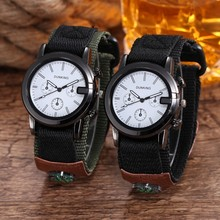 New Fashion Ribbon Casual Quartz Watches Sport Mens Watch With Compass Men Female Military WristWatch Relogio Masculino Reloj
