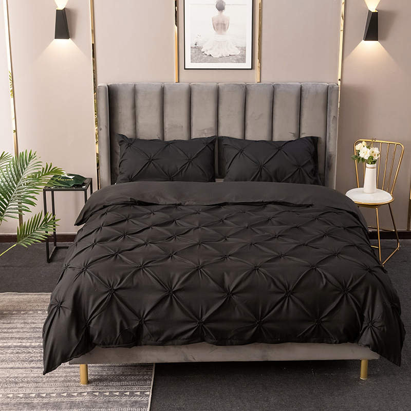 Luxury Pinch Pleat Bedding Comforter Bedding Sets Bed Linen Duvet Cover Set Pillowcases Bedding Queen King
