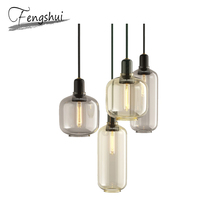 Nordic Marble Glass Pendant Lights Lamp LED Pendant Lighting Living Room Cafe Dining Room Bar Bedside Bedroom Loft Hanging Lamp nordic led pendant lights for dining room bar bedroom living room kitchen creative art deco hanging pendant lamp retro cafe loft
