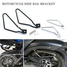 . 2 x soporte de Bolsa lateral bolsa de motocicleta caja lateral bolsa de sillín Bolsa lateral soporte de equipaje para Davidson XL883