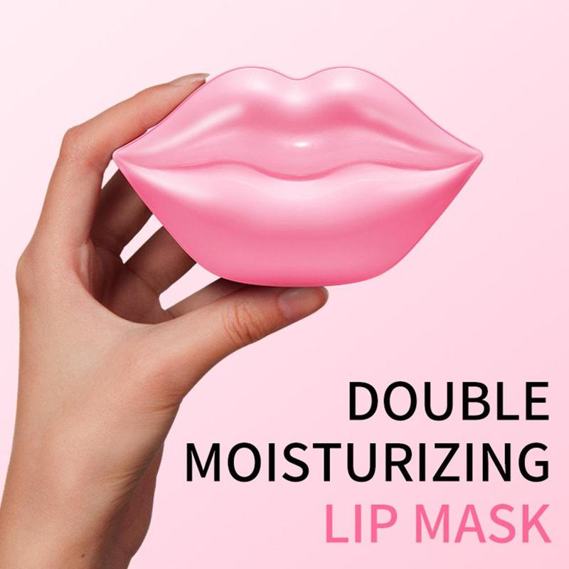 Crystal Collagen Lip Mask Pads For Women Moisturing Anti Aging Patch Pad Gel Full Lips Enhancer Lip Care Mask Essence