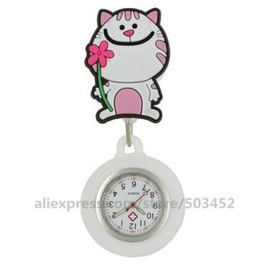 Image 5 - 100 ピース/ロット 110514 動物看護師は医師 Wathes 素敵な卸売ポケット女性ファッション医療腕時計