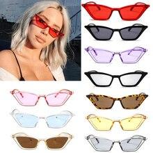 Винтажные очки солнцезащитные женские кошачий глаз, солнцезащитные очки в ретро стиле, дизайнерские летние солнцезащитные очки для женщин, женские сексуальные очки UV400