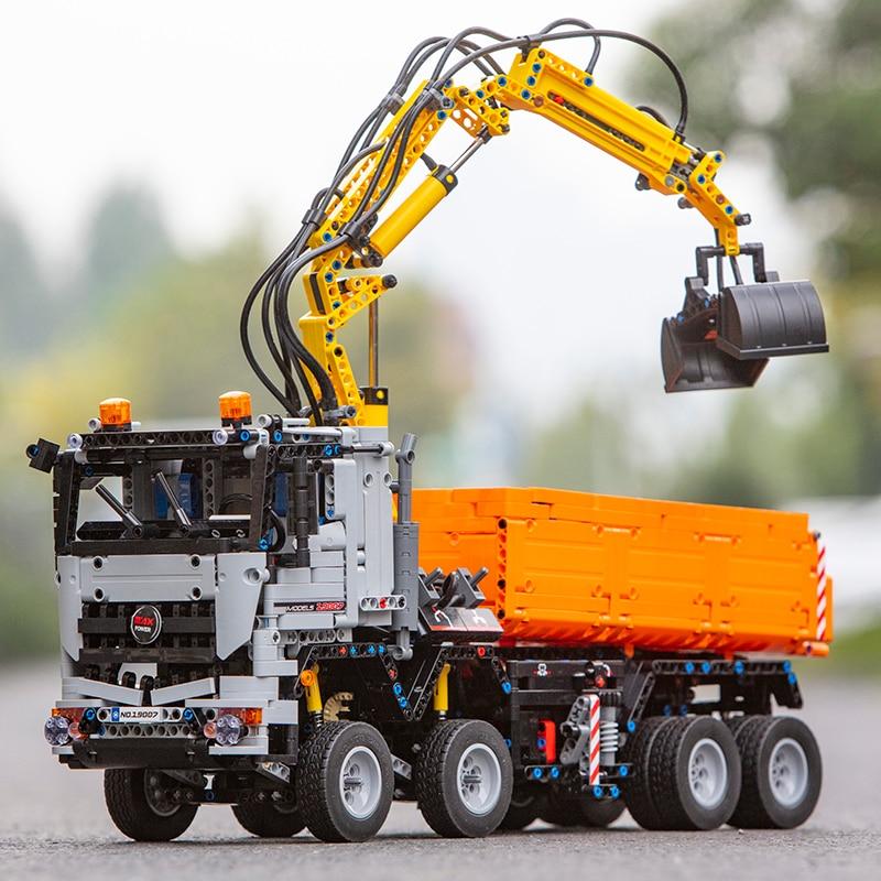 In Stock Mould King Technic 19007 Arocs Truck RC App Motorized Power Car Assembly 3245pcs Building Blocks Bricks Boys Toys 1