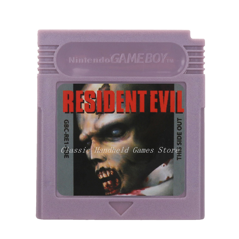 For Nintendo GBC Video Game Cartridge Console Card ResidentEvil  English Language Version