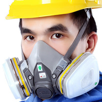 3M Gas Mask 6200 + 6057 Set Anti Organic Gas Hydrogen Chloride Sulfuretted Hydrogen Gas Mask