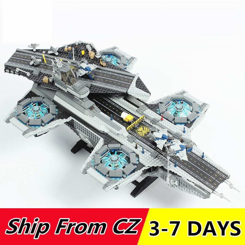 Super Movies Series The SHIELD Helicarrier Building Blocks 2996PCS  Compatible with 76042 lepins 07043 Toys BricksBlocks   -