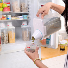 1pc Sealed Cans Kitchen Storage Box Plastic Transparent Food Canister Keep Fresh New Clear Container Supplies