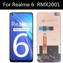 """6.5 """"lcd ل Realme 6 RMX2001 شاشة الكريستال السائل مجموعة المحولات الرقمية لشاشة تعمل بلمس استبدال ل OPPO Realme 6S RMX2002"""