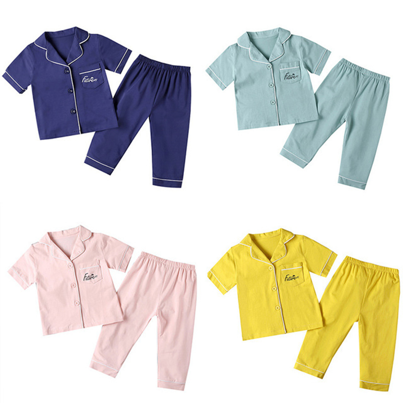 SAILEROAD Children's Pajamas For Girls Pyjamas Short Top+Long Pants Kids Pijama Infantil Boys Sleepwear Child Home Wear Clothes 1