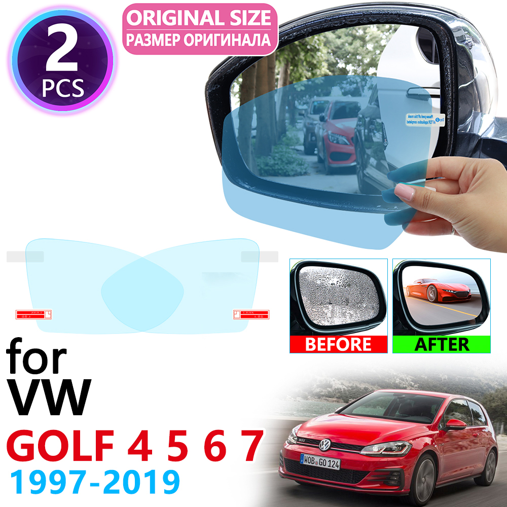 for Volkswagen VW Golf 4 5 6 7 Sportsvan Golf MK4 MK5 MK6 MK7 1J 1K 5K 5G 1997~2019 Rearview Mirror Anti Fog Film Accessories image