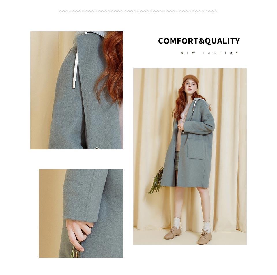Metersbonwe Mulheres Lã Casaco outerwear roupas de