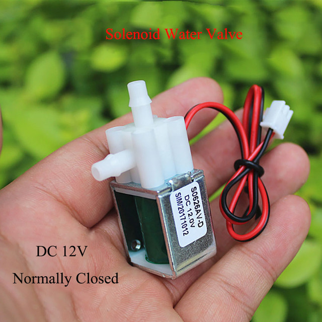 DC 12V Electric Solenoid Valve N//C Normally Closed Mini Water Air Valve Hot Sale