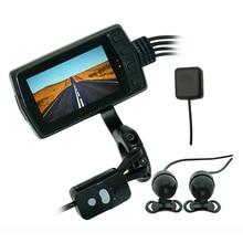MT011GPS WiFi grabadora de conducción IP65 impermeable 1080P cámara de motocicleta doble lente DVR