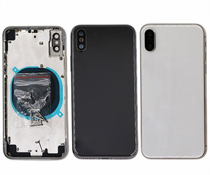 Image 2 - For iphone 11 pro Max XS MAX XS 8 7 6P Battery Back Cover Door Rear Cover + middle Frame + sim Tray side key parts Housing Case