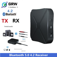 Grwibeou بلوتوث 5.0 4.2 جهاز إرسال واستقبال الصوت الموسيقى ستيريو لاسلكي محول RCA 3.5 مللي متر AUX جاك ل رئيس التلفزيون سيارة الكمبيوتر