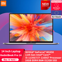 Xiaomi 2021 Hot Laptop RedmiBook Pro 14 MX450 Intel Core i5-1135G7 / i7-1165G7 16GB DDR4 512GB PCIe Computer Notebook Win10 PC