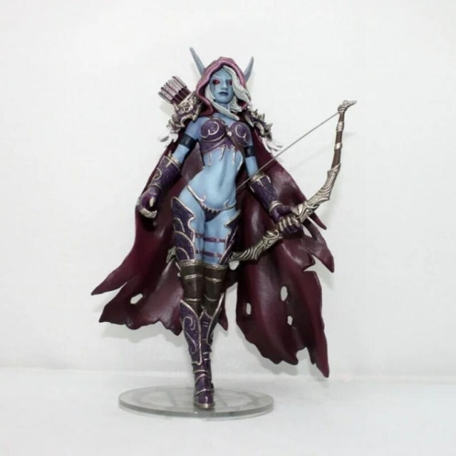 Collectible Toys 14cm Wow Sylvanas Windrunner Darkness Ranger Lady PVC Figure For Collection Annie Brinquedos ModelAction & Toy Figures