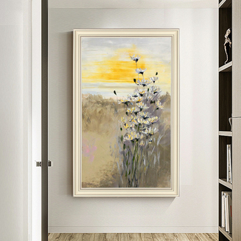 American Landscape Painting Murals hand-painted Abstract Fantasy Vertical Version Of Decorative Painting The Living Room Entranc