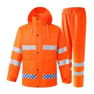Hi Vis куртка темно-синяя Защитная куртка Рабочая одежда мужская водонепроницаемая дождевик