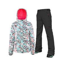 цена на New Thick Warm Ski Suit Women Waterproof Windproof Skiing Winter Female Thermal Skiing Suits Snow Coat And Jacket Pants Set