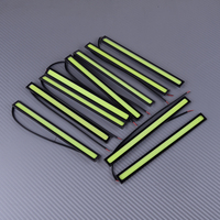 DWCX 10Pcs Universal Waterproof Car COB Green LED DRL Daytime Running Light Lamp Bar Strips 12V 3.84W