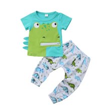 Baby Clothes Dinosaur Print Newborn Infant Baby Boy Girls T-Shirt Tops +Pants Outfits Set Clothing newborn infant baby boys girls clothes set t shirt tops short sleeve pants cute outfits clothing baby boy