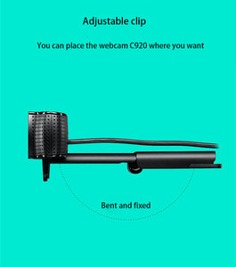 Image 5 - لوجيتك الأصلي C920C C920E C920 برو كاميرا بـ Usb HD الذكية 1080p لايف مرساة كاميرا ويب محمول مكتب اجتماع الفيديو Logi العلامة التجارية الساخن