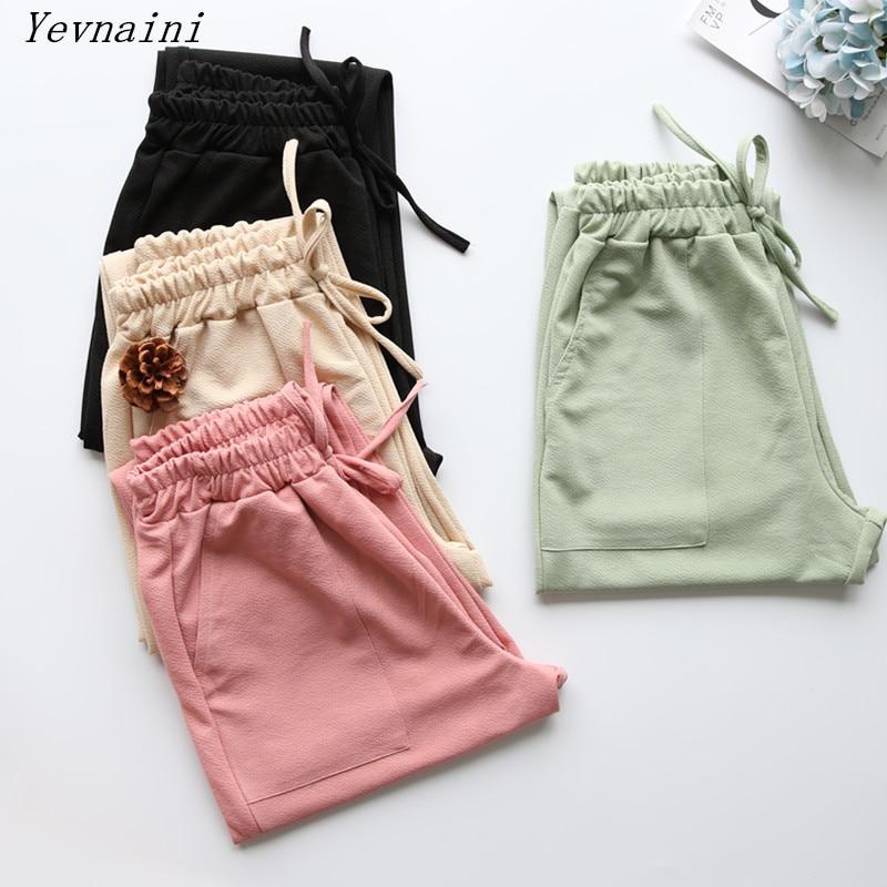 Women Casual Harem Pants Loose Trousers Women Elastic High Waist Casual Pants Office OL Pants Lady Pants Black Khaki Green Pants