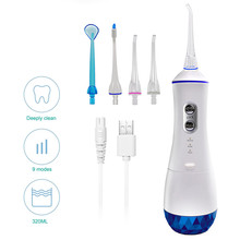 Irrigators Water-Flosser Cordless Teeth-Cleaner Usb-Rechargeable Portable 4-Jets Massage