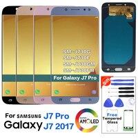 Amoled J7 Pro Display for Samsung J7 Pro 2017 J730 J730F J730G J730M LCD Screen Pantalla 100% Tested Complete lcd glass panel
