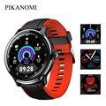 Круглые полностью сенсорные Смарт-часы  водонепроницаемые  пульсометр  монитор артериального давления  Bluetooth  умные часы  GPS трекер активнос...